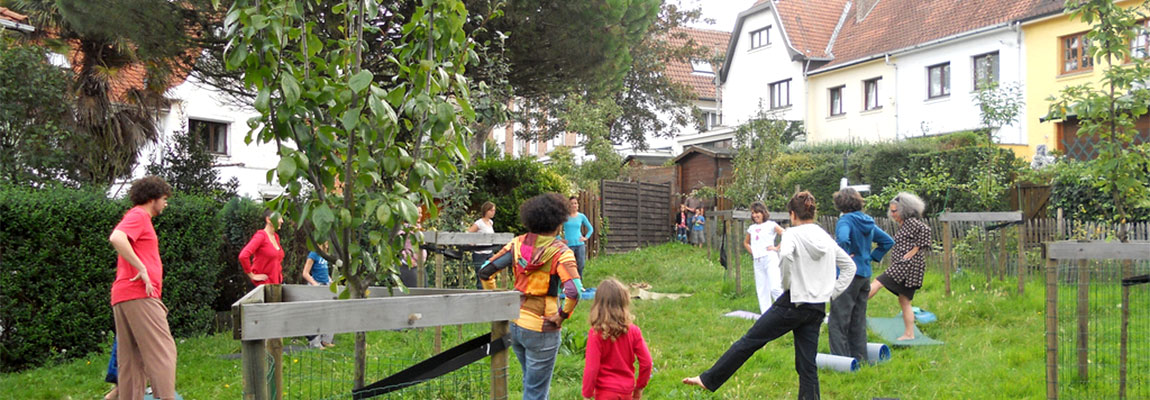 Ré-investir les espaces verts de la cité-jardin.