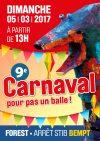 Le Carnaval pour pas un balle arrive !